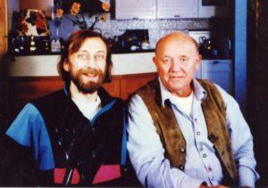 Legendary climber Yuri Lishaev (Fantik) and the TV host of the