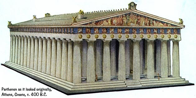 a description of the parthenon in athens and its role in the history of the athenian architecture The parthenon (ancient greek: παρθενών) is a temple on the athenian acropolis, greece, dedicated to the greek goddess athena, whom the people of athens considered their patron its construction began in 447 bc and was.