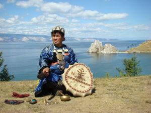 Buryat shaman Valentin Khagdaev on Olkhon Island
