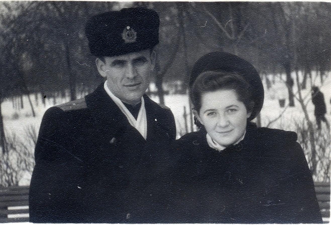 Peter and Larisa. January 2, 1953.